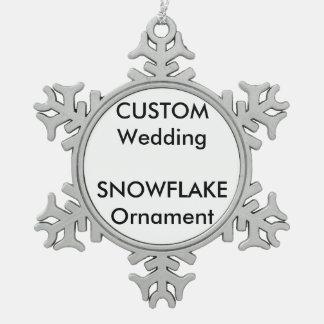 Wedding Custom Snowflake Ornament Decoration
