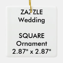 Wedding Custom SQUARE Hanging Ornament Decoration