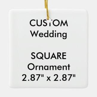 Wedding Custom SQUARE Ornament Hanging Decoration
