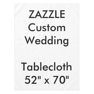 "Wedding Custom Tablecloth 52"" x 70"""