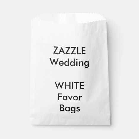 Wedding Custom WHITE Paper Favor Bag