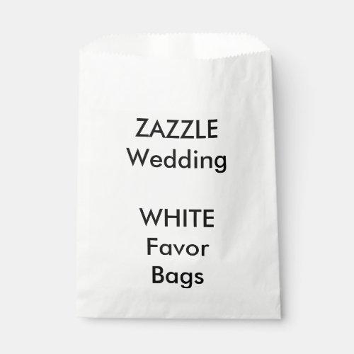 Wedding Custom WHITE Paper Favor Bag