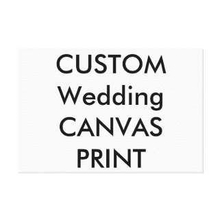 "Wedding Custom Wrapped Canvas Print, 30"" x 20"""