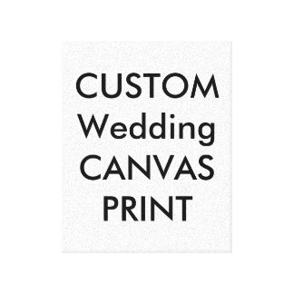 "Wedding Custom Wrapped Canvas Print, 8"" x 10"""