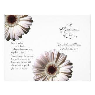 Wedding Daisy/ Program Flyer