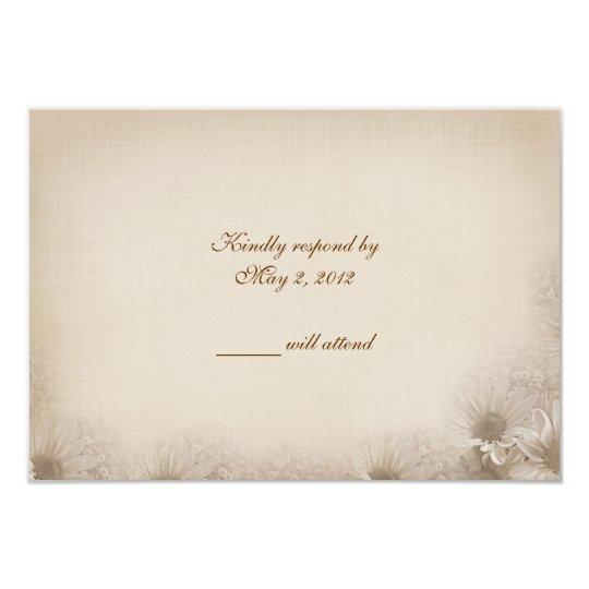 Wedding Daisy RSVP Card
