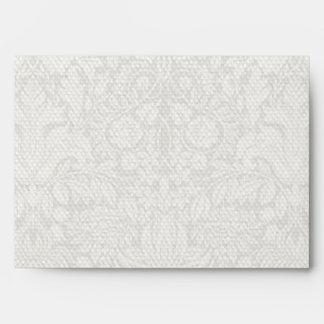 Wedding Damask Vintage White Wedding Old Lace Envelopes
