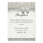 Wedding Damask Vintage White Wedding Old Lace Announcement
