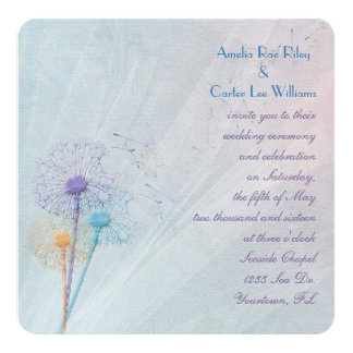 Wedding Dandelion Bouquet Card