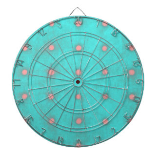 Wedding dartboard pink polka dots