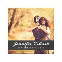 Wedding Date Canvas | Couple Photo