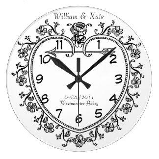 wedding date commemorative gift vintage clock