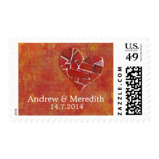 Wedding Date Custom Postage Stamps