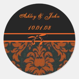 Wedding Date - Customized Classic Round Sticker