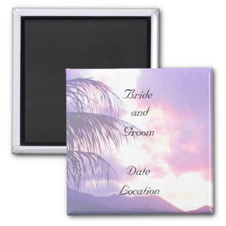 Wedding Date Magnet - Tropical Sunset