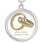 Wedding Date Ring Necklace