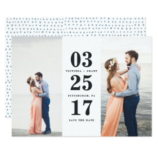 Wedding Date Save the Date Card