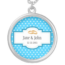 Wedding Date Silver Plated Necklace