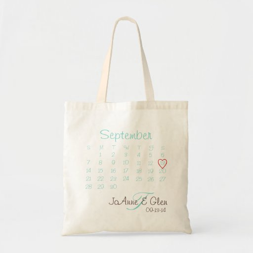 Wedding Date Tote Budget Tote Bag