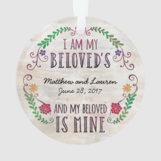Wedding Date Watercolor, I Am My Beloved's Ornament