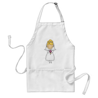 Wedding Day Bridal Bliss Adult Apron at Zazzle