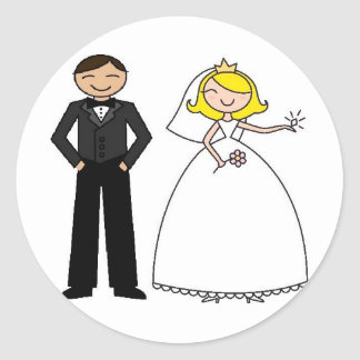 Wedding Day Bridal Bliss Classic Round Sticker