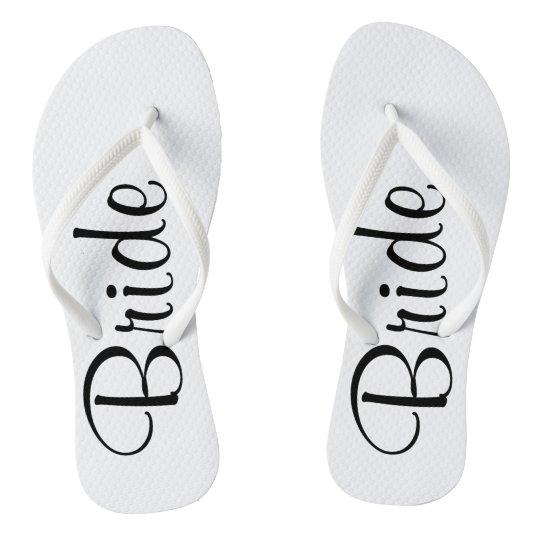 7231c3d03 Wedding Day Bride Flip Flops