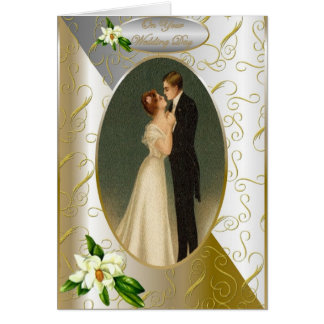 Wedding Day Card Bride and Groom