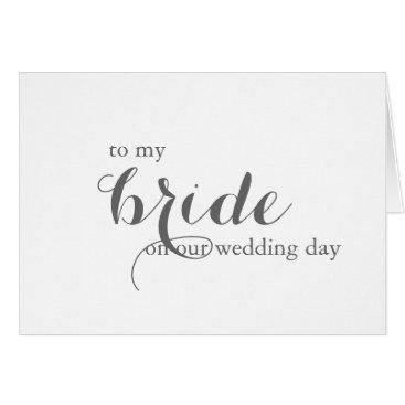 PrintMyWedding Wedding Day Card for Bride