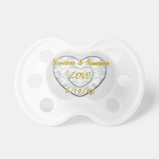 Wedding Day! Church or Reception Add Names Dates Pacifier