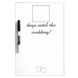 """Wedding Day Countdown"" Dry Erase Board Dry-Erase Board"
