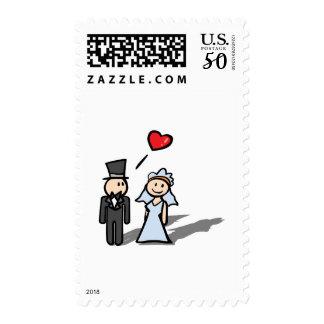 """Wedding Day"" couple design Postage"