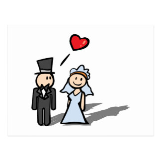 """Wedding Day"" couple design Postcard"