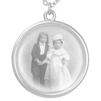 Wedding Day Dreams Vintage Photo Necklace