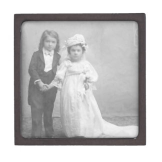 Wedding Day Dreams Vintage Photo Premium Gift Box