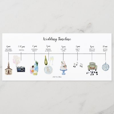 Wedding Day Event Timeline Program