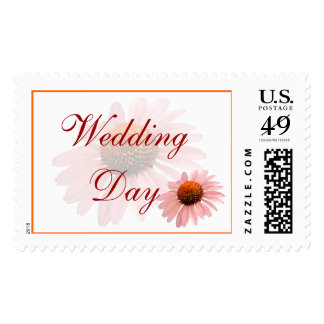 Wedding Day Floral Postage Stamp
