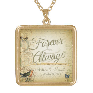 Wedding Day Forever & Always Personalized Pendants