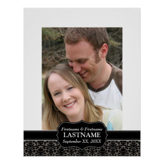 Wedding Day - Guest Book Sign Border Poster