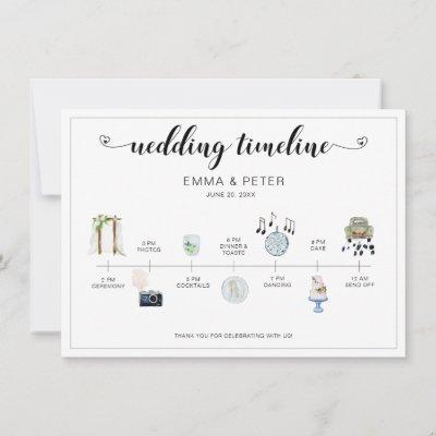 Wedding Day Itinerary Timeline  Program