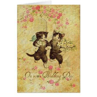 Wedding Day Kitties Card