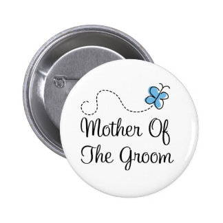 Wedding Day Mother Of  The Groom Blue Button