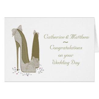 Wedding Day Personalised Greeting Card