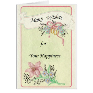 Wedding Day postcard Greeting Card
