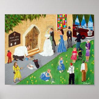 Wedding Day Poster Print Large
