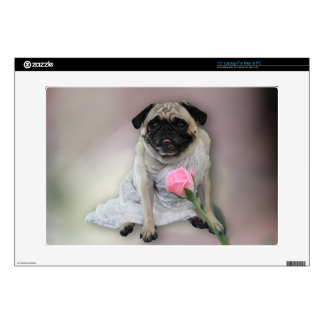 """Wedding Day Pug Decal For 15"""" Laptop"""