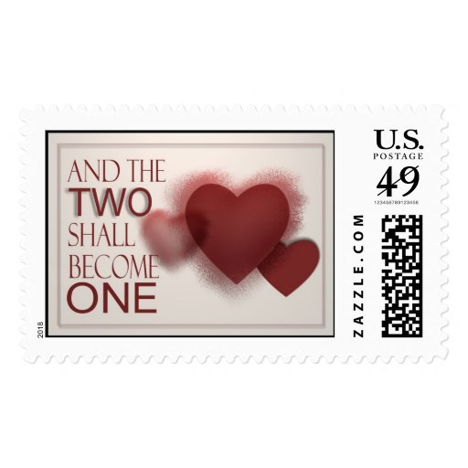 Wedding Day Stamps - Two shall become one