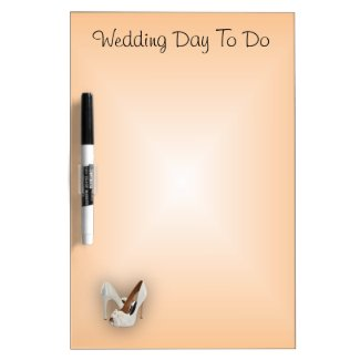 Wedding Day To Do Dry Erase Board