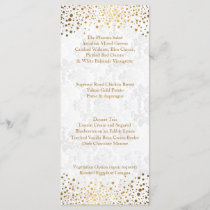 Wedding Day Trendy Gold Dots Menu