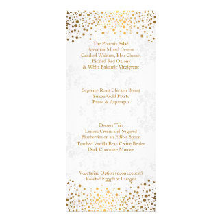 Wedding Day Trendy Gold Dots Rack Card